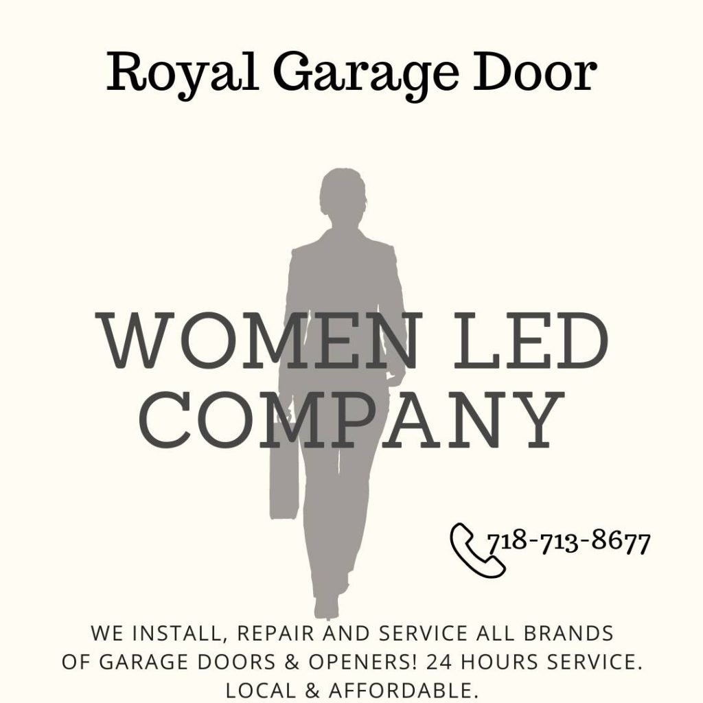 a women-led business that can install, repair, and service any garage door